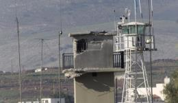 An observation post damaged during Israeli reprisals following a Hezbollah attack on January 28