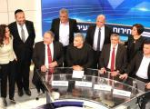Party leaders gather at Channel 2 studios for a televised debate