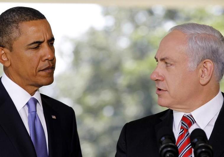 US President Barack Obama (L) and Prime Minister Benjamin Netanyahu