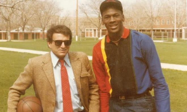 Arik Henig and Michael Jordan in 1984