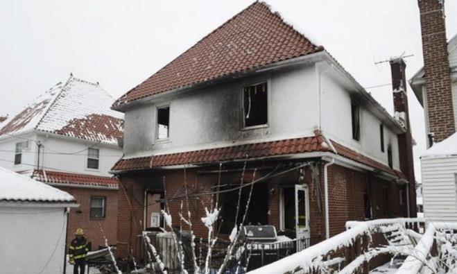 Aftermath of a home fire.