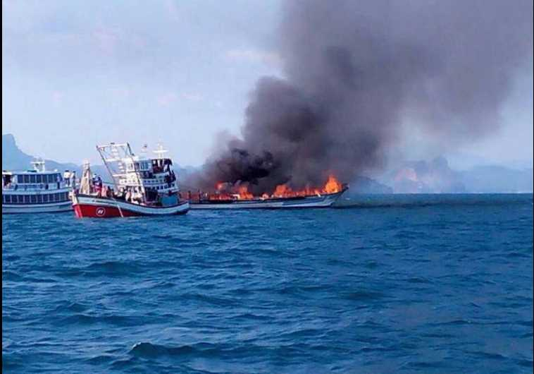 Thialand boat fire