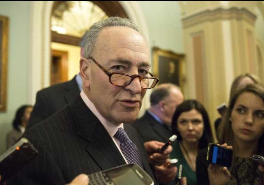 US Senator Charles Schumer (D-NY) speaks to reporters on Capitol Hill in Washington