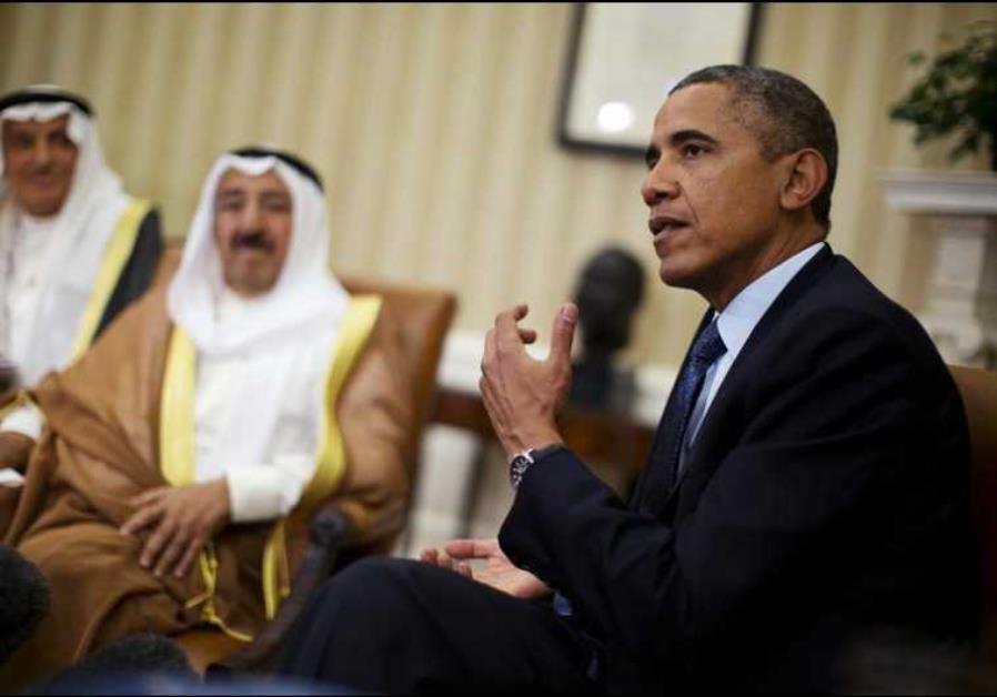 US President Barack Obama meets Sheikh Sabah al-Ahmad al-Jaber al-Sabah, Kuwait's emir