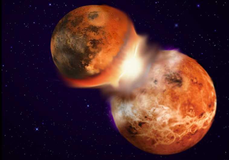 Theia Earth collision