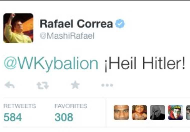 Ecuadorian President Rafael Correa's controversial tweet