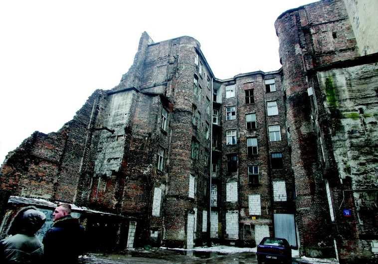 Immeuble de Varsovie où habitaient des familles juives