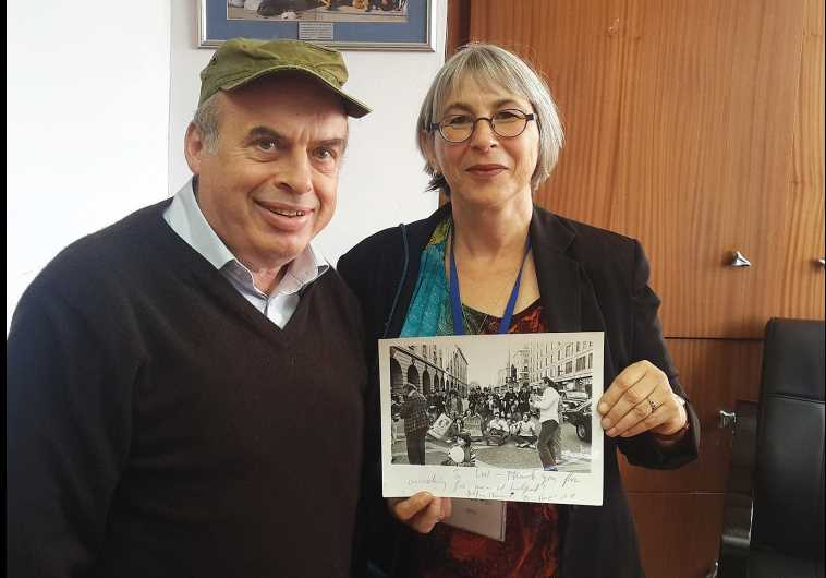 JEWISH AGENCY chairman Natan Sharansky and 'International Jerusalem Post' editor Liat Collins