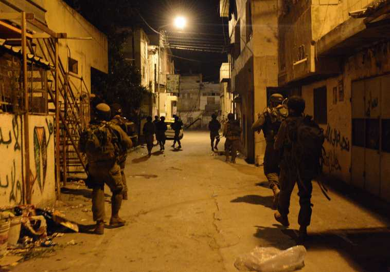 IDF troops operating in the West Bank
