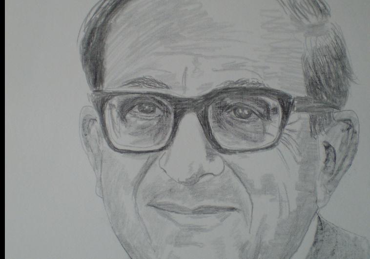 YITZHAK NAVON, as drawn by Chaim Topol