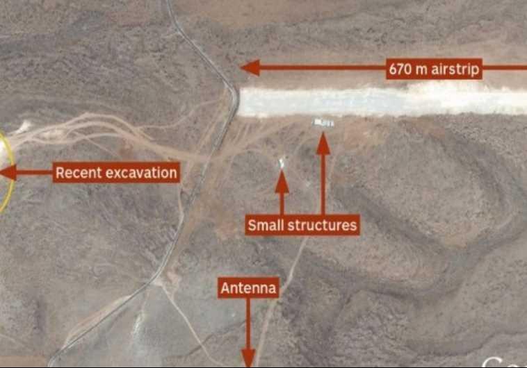 Google Earth image of runway built by Hezbollah in Lebanon