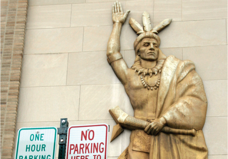 A STATUE of a Native-American tribe