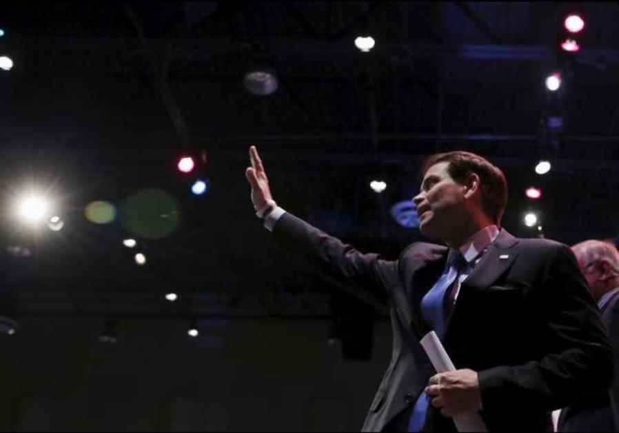 US presidential candidate and Republican senator of Florida Marco Rubio