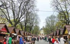 AN OPEN market in Lviv sells local products