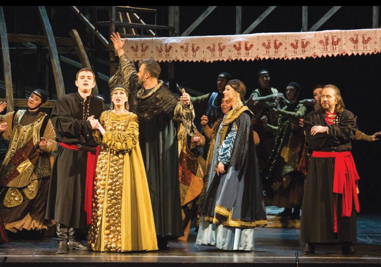 THE COMPANY of Rimsky-Korsakov's The Tsar's Bride performance at the the Israel Opera House