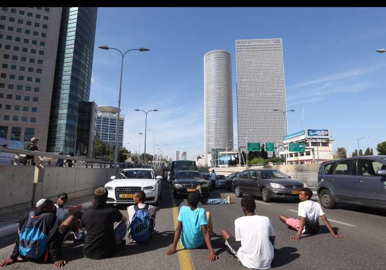 Ethiopian protest Tel Aviv