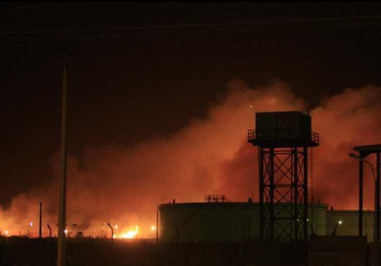 Fire engulfs the Yarmouk ammunition factory in Khartoum