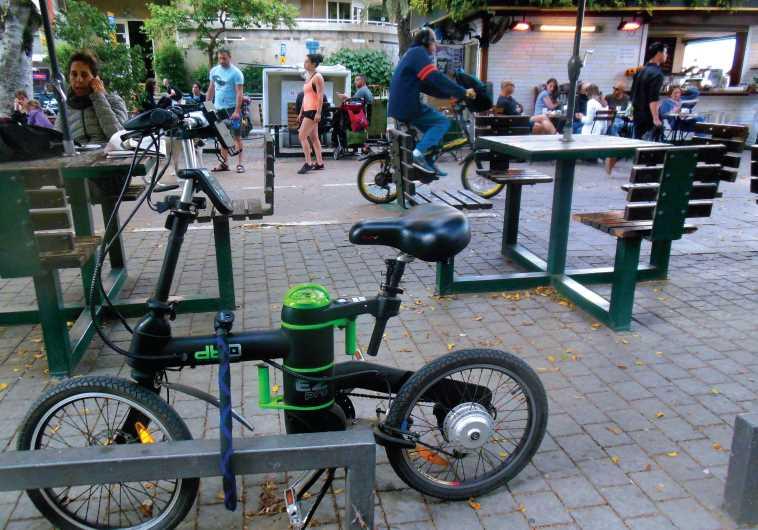 Electric bike in Tel-Aviv