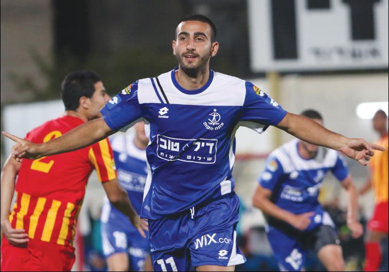Hapoel Petah Tikva striker Dor Hugi scored twice in his team's 4-2 win over Ashdod SC last night in