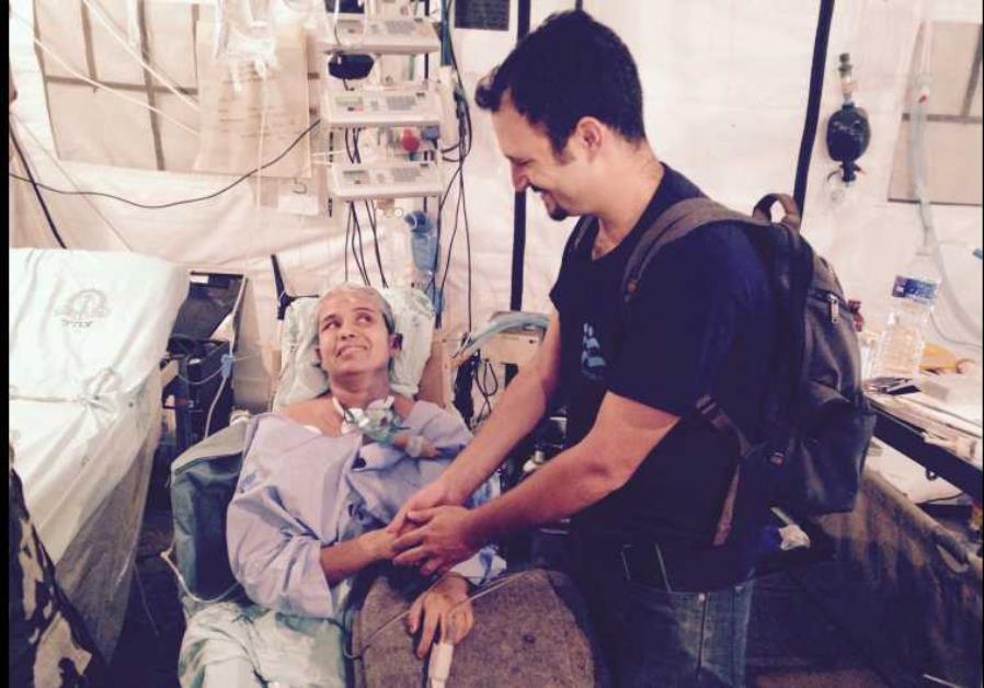 Ms. Krishna Devi Khadka, rescued by IsraAID Search & Rescue team in Nepal