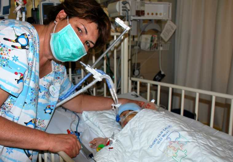 Schneider courtesy photo of baby after transplant surgery.