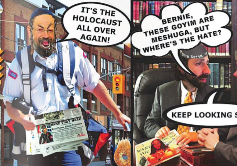CANADIAN PUBLICATION 'Your Ward News' ran this collage portraying large-nosed Jews in response to ob
