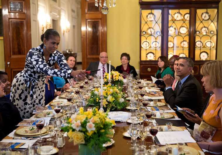 President Barack Obama hosts a Passover seder at the White House