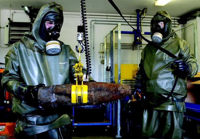 Démantèlement d'armes chimiques