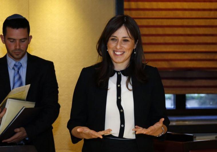 Deputy Foreign Minister Tzipi Hotovely (R)