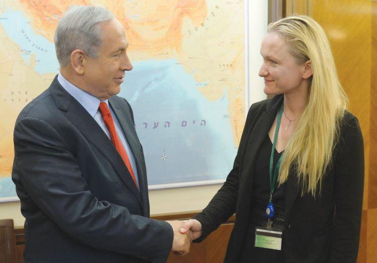 Benjamin Netanyahu and Lila Tretikov