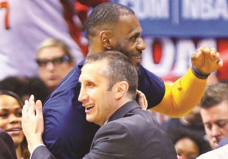 Cleveland Cavs' coach David Blatt and his player LeBron James