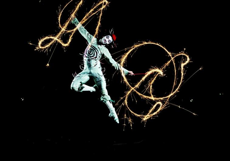 Les artistes du Cirque du soleil en pleine action