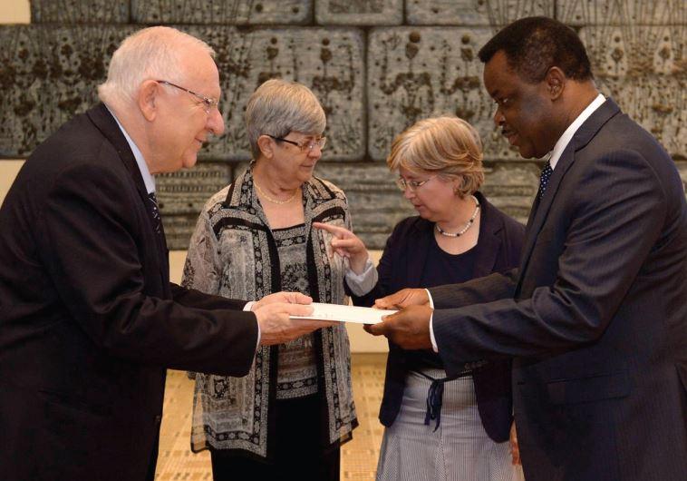 rivlin and Ambassador Eustaquio Nseng Esono of Equatorial Guinea