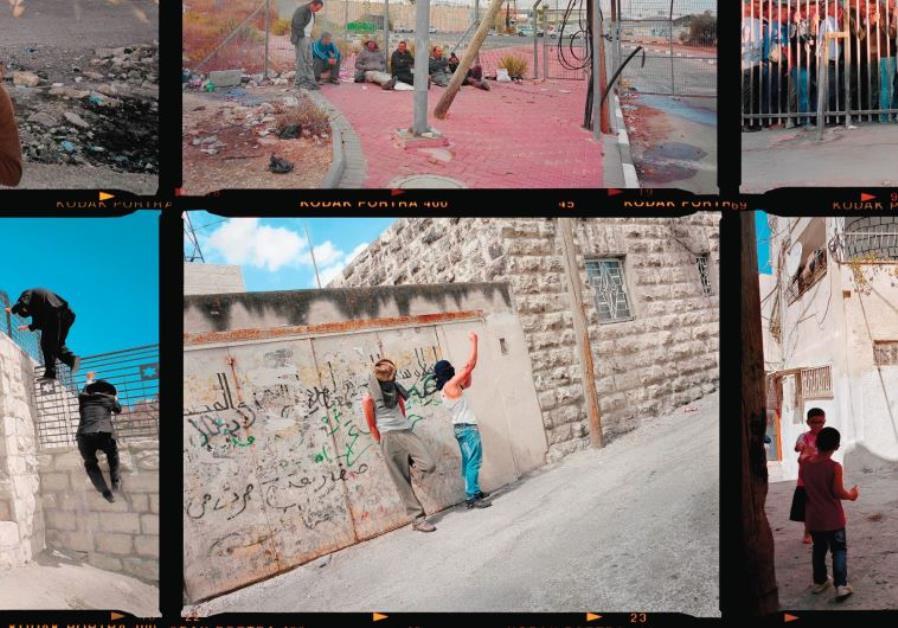 Gilles Peress – contact sheet, Palestinian Jerusalem, 2013.