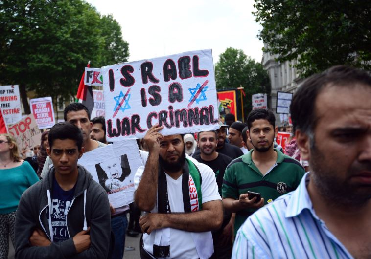 london protest israel