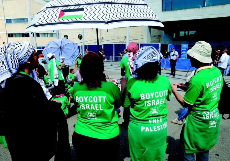 Des militants du BDS en action