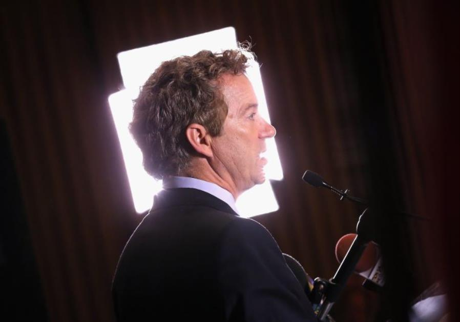 US Senator Rand Paul (Rep. - Ky.) prepares for a television interview