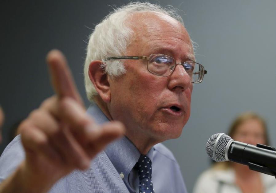 Democratic presidential candidate and US Senator Bernie Sanders (I-VT)