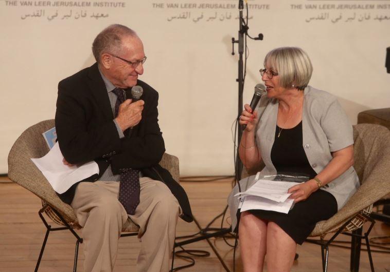 International Jerusalem Post editor Liat Collins interviews Prof. Alan Dershowitz
