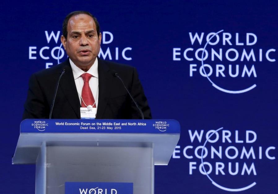 Egyptian President Abdel Fattah al-Sisi addresses the World Economic Forum in Jordan
