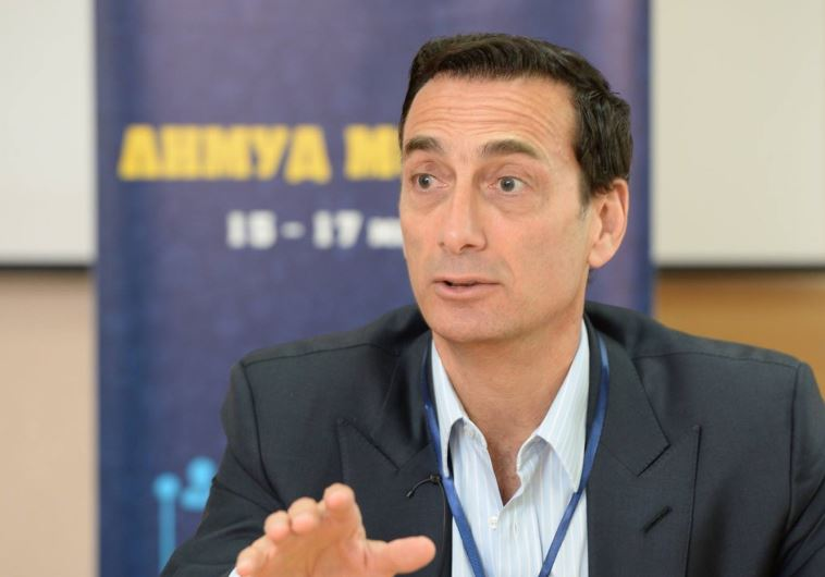 MATTHEW BRONFMAN speaks at a Limmud FSU conference last month in Kishinev, Moldova, where his grandf