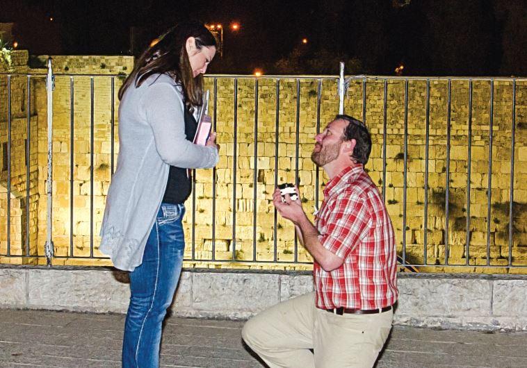 Wedding proposal in Jerusalem