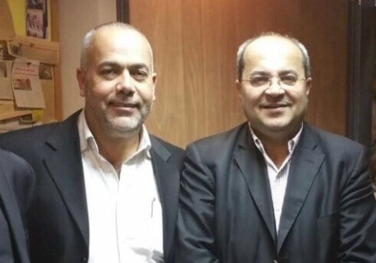 Ta'al Party Chairman Ahmad Tibi (Right) and fellow party MK Osama Sa'adi (Left)
