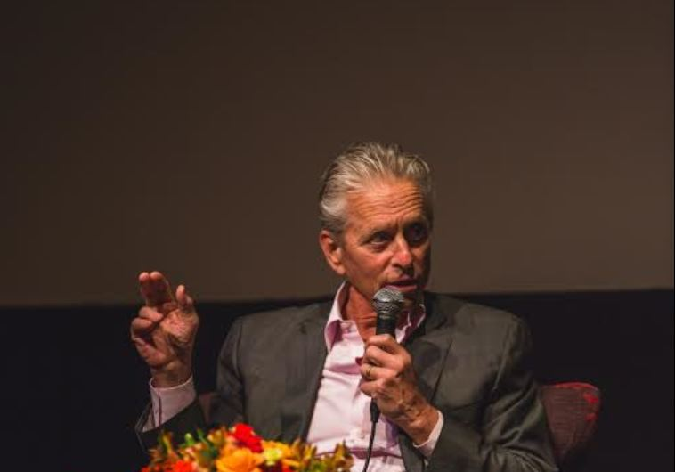 Michael Douglas in Jerusalem, June 18