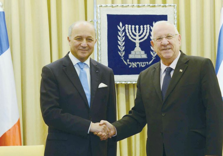 PRESIDENT REUVEN RIVLIN receives French Foreign Minister Laurent Fabius
