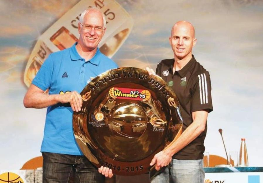Hapoel Eilat coach Arik Shivek and Hapoel Jerusalem coach Danny Franco