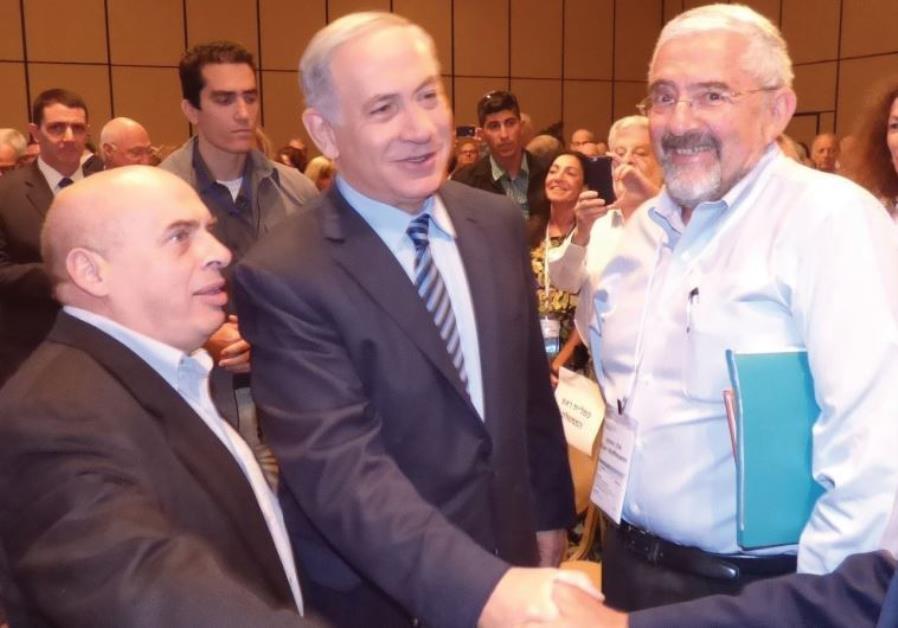 Natan Sharansky, Prime Minister Benjamin Netanyahu and Jewish Agency Director-General Alan Hoffman.
