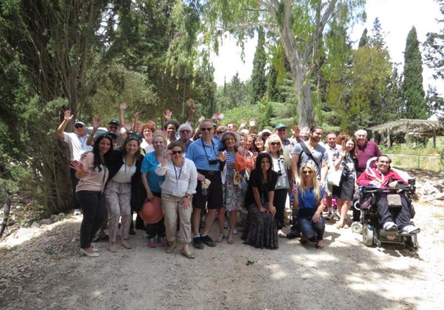 JNF USA solidarity delegation in Northern Israel, May 2015. Photo: Yoav Devir