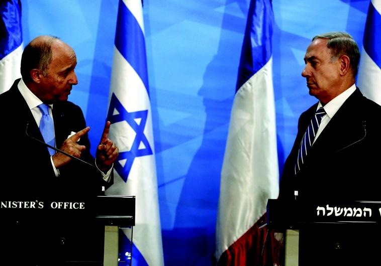 Laurent Fabius et Benjamin Netanyahou