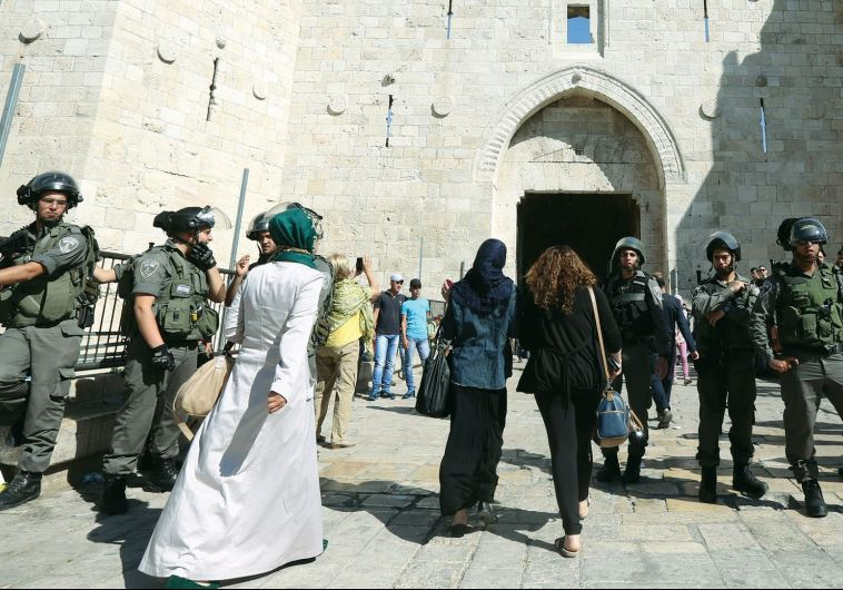PALESTINIAN WOMEN visit Jerusalem on the eve of Ramadan